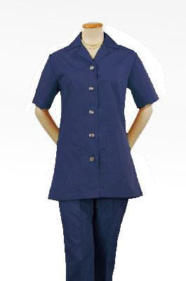 Women's Navy Short Sleeve Housekeeping Tunic Top