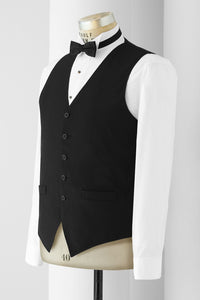 """Stuart"" Men's Black Vest"