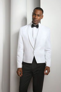 """Spencer"" Men's White Eton Jacket"