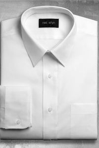 """Martin"" White Men's Dress Shirt"