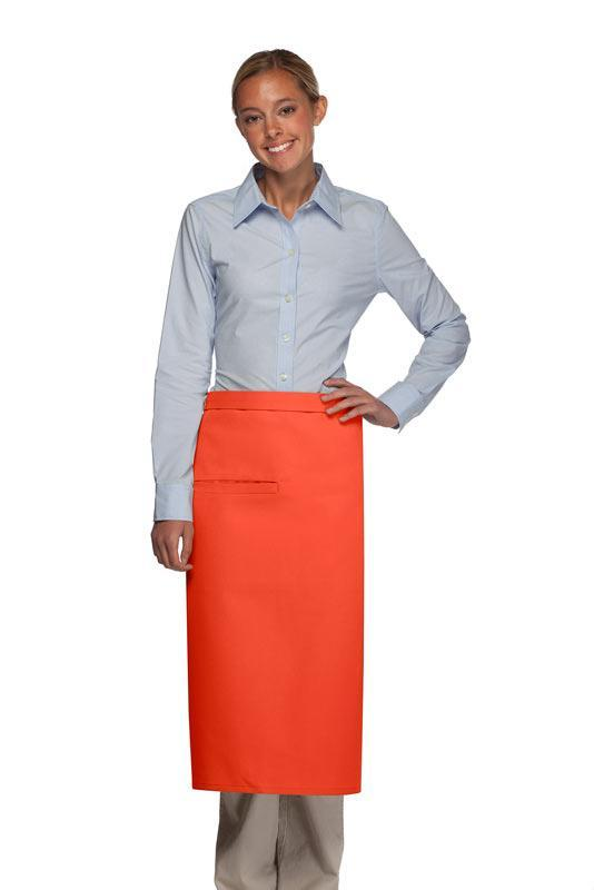 Orange 1 Inset Pocket Full Bistro Apron