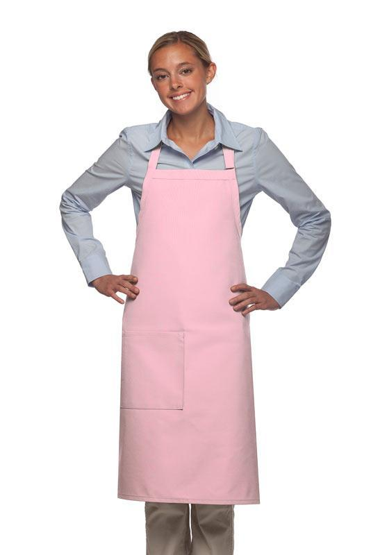 Pink Deluxe Butcher Adjustable Apron (1 Pocket)