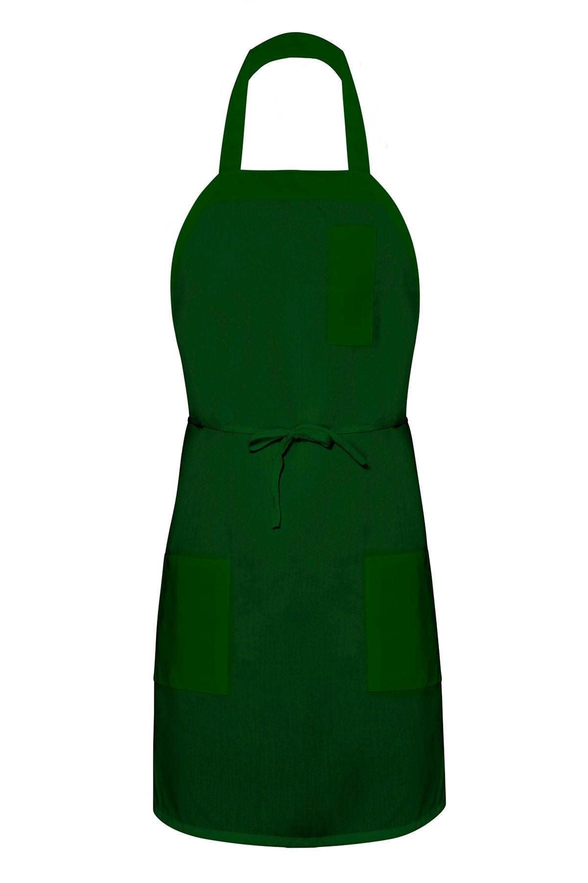Forest Green Bib Apron (3 Pockets)