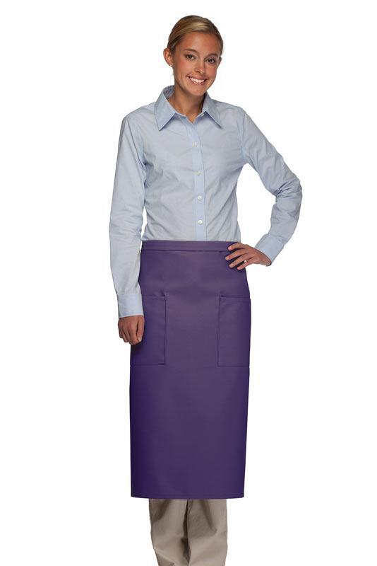 Purple 2 Patch Pocket Full Bistro Apron