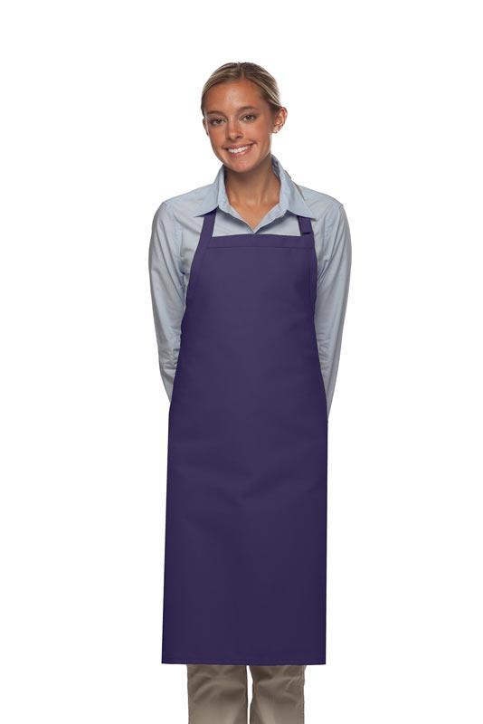 Purple No Pocket Adjustable Butcher Apron