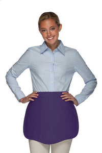 Purple Scalloped Waist Apron