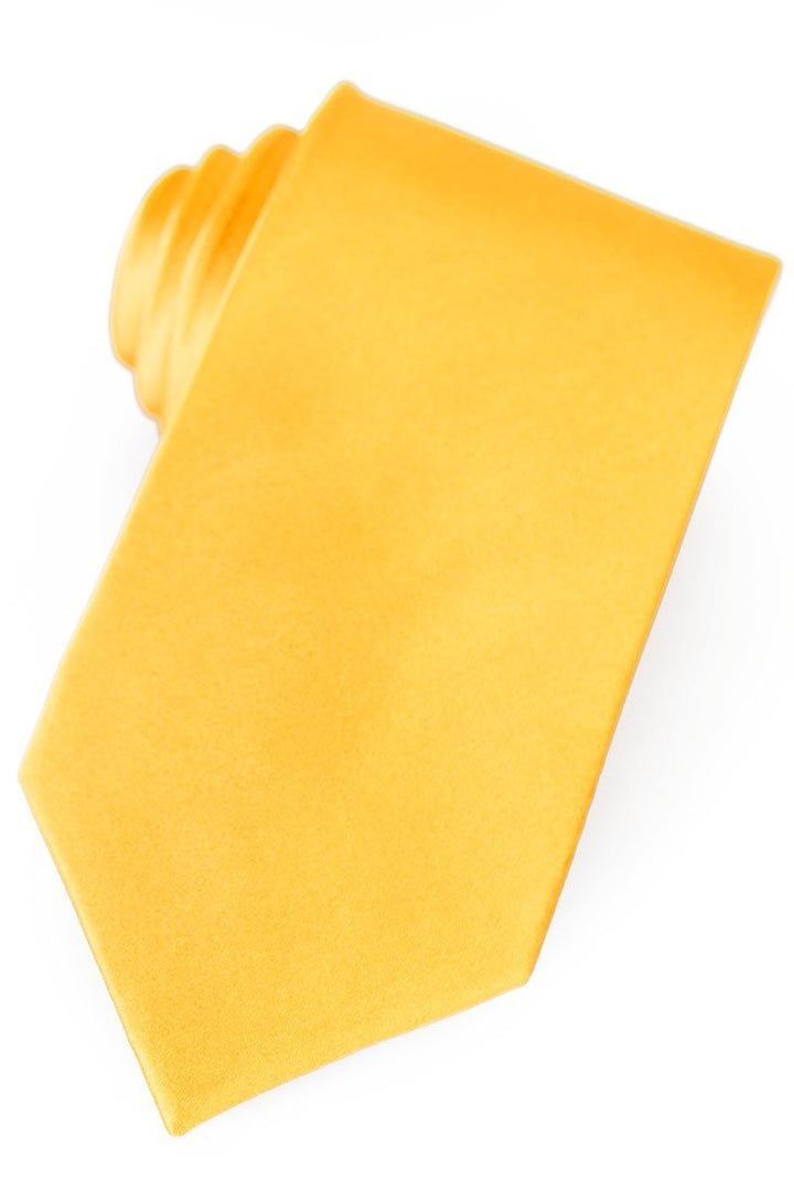 Gold Silk Necktie