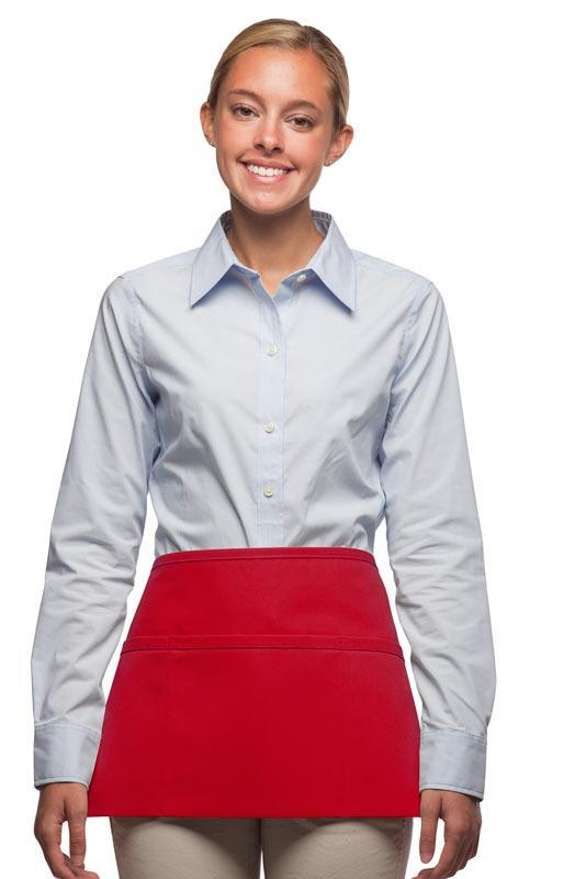 Red 3-Pocket Waist Apron