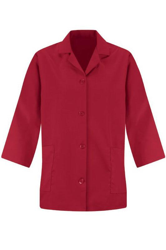 Red Women's Smock 3/4 Sleeve