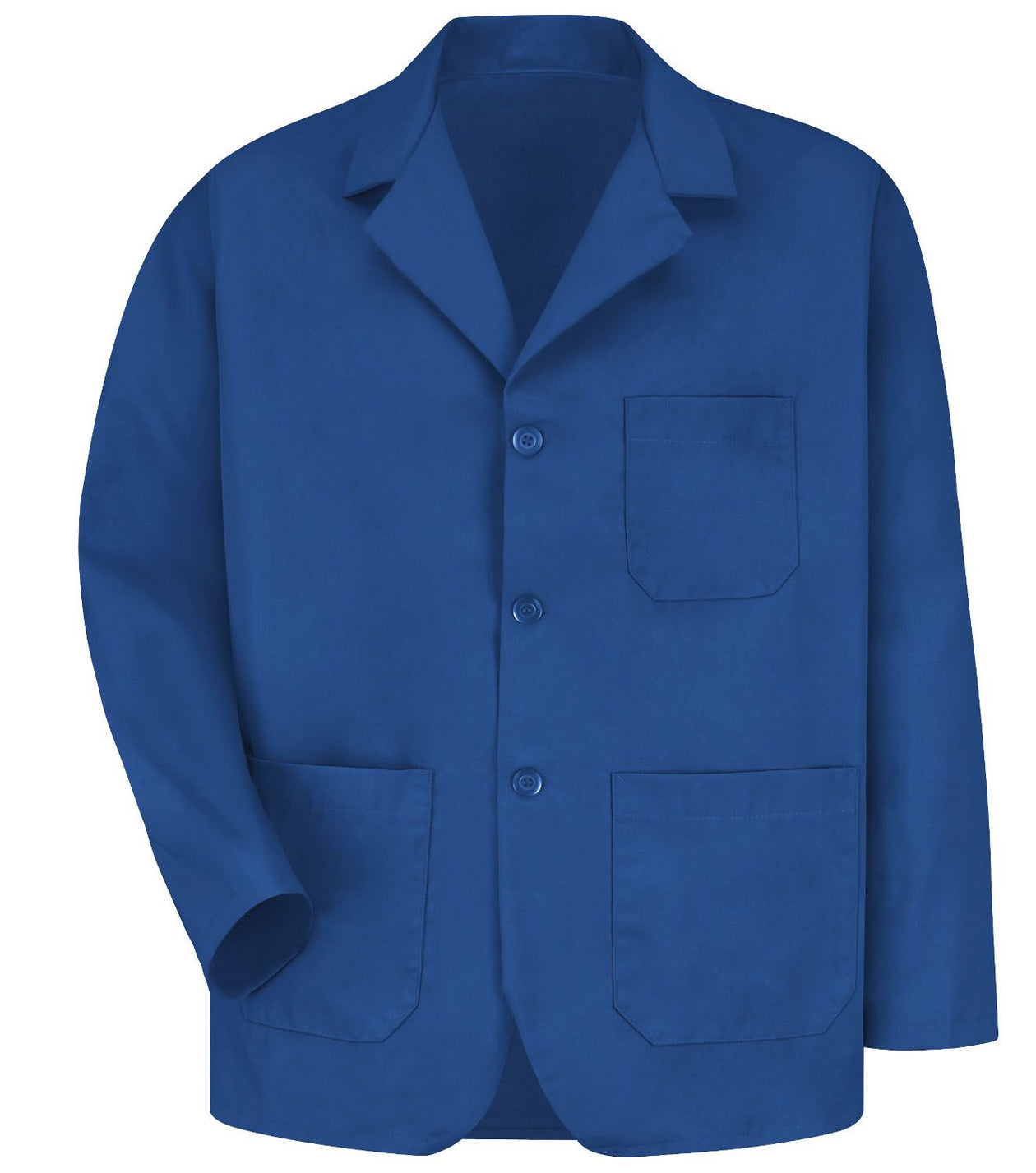 Men's Navy Lapel Counter Coat