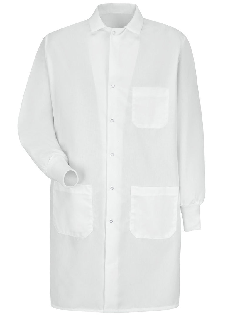Unisex White Specialized Cuffed Lab Coat