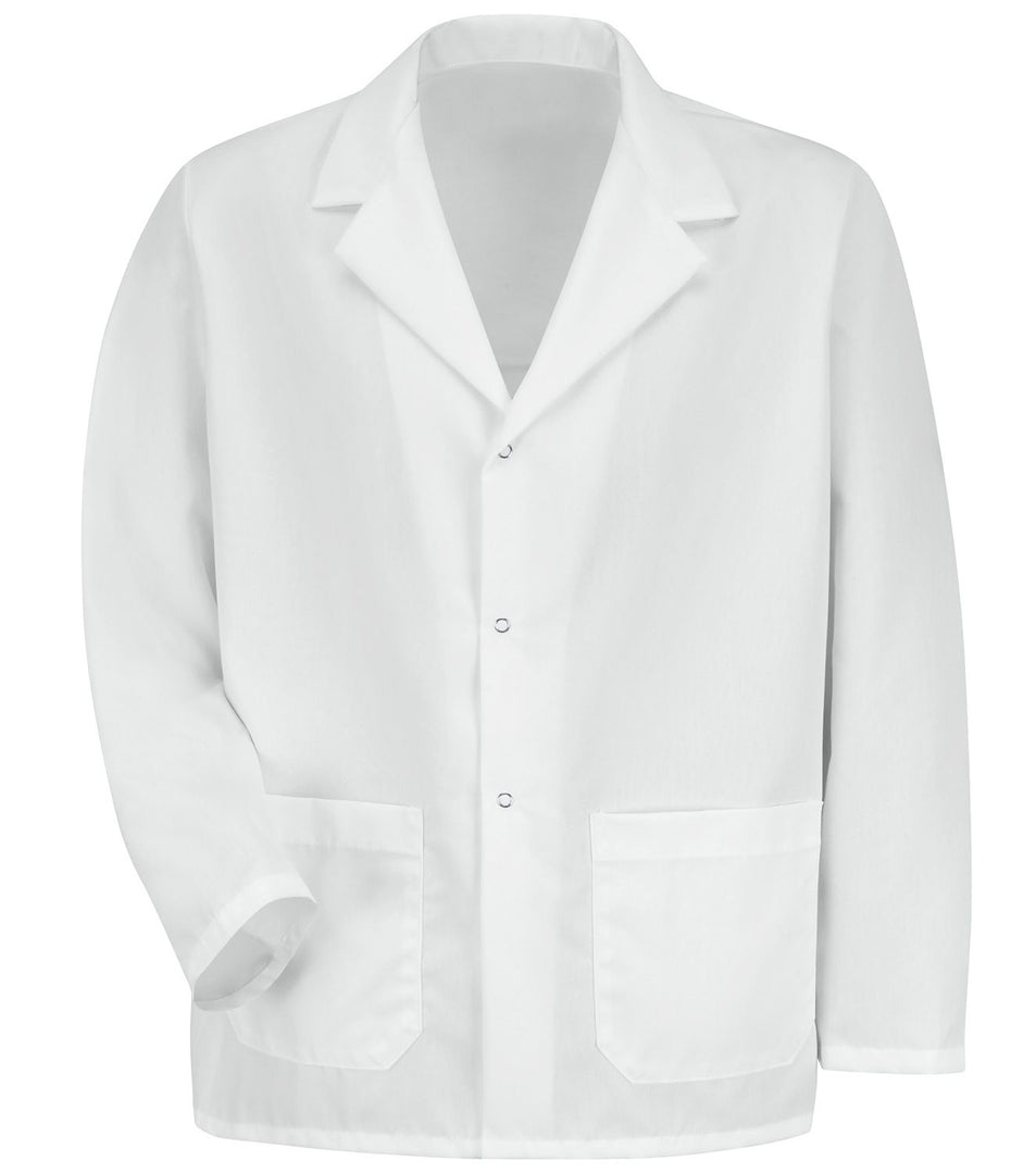 Men's White Specialized Lapel Counter Coat