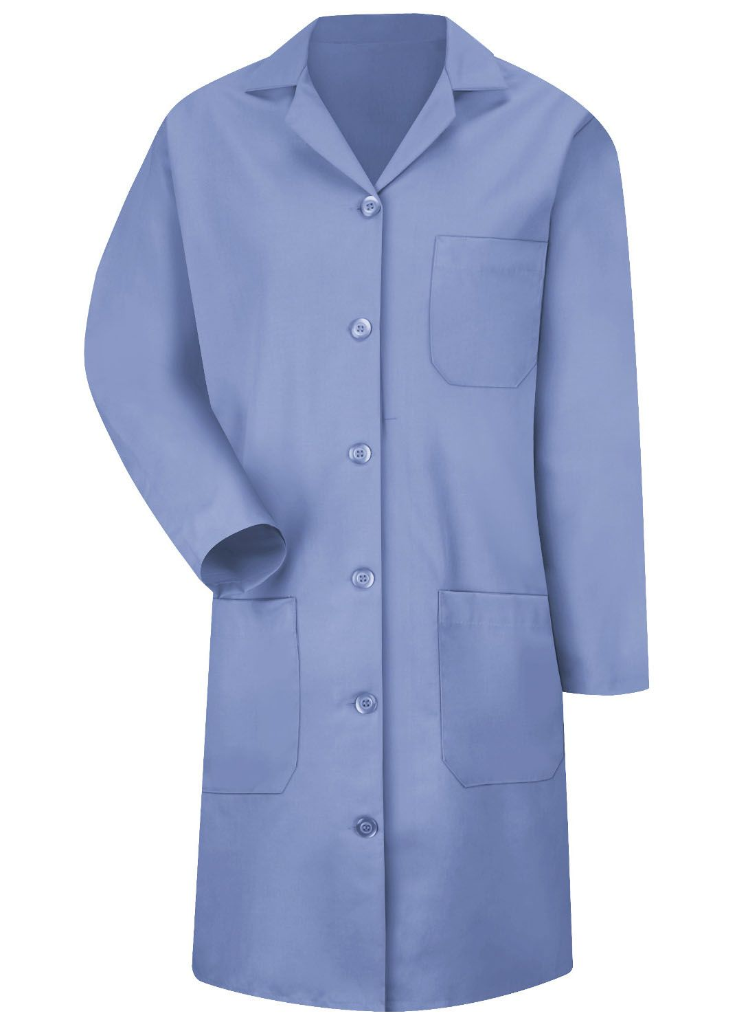 Women's Light Blue 6-Button Front Lab Coat