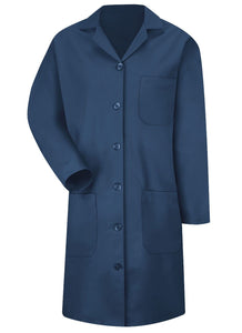 Women's Navy 6-Button Front Lab Coat