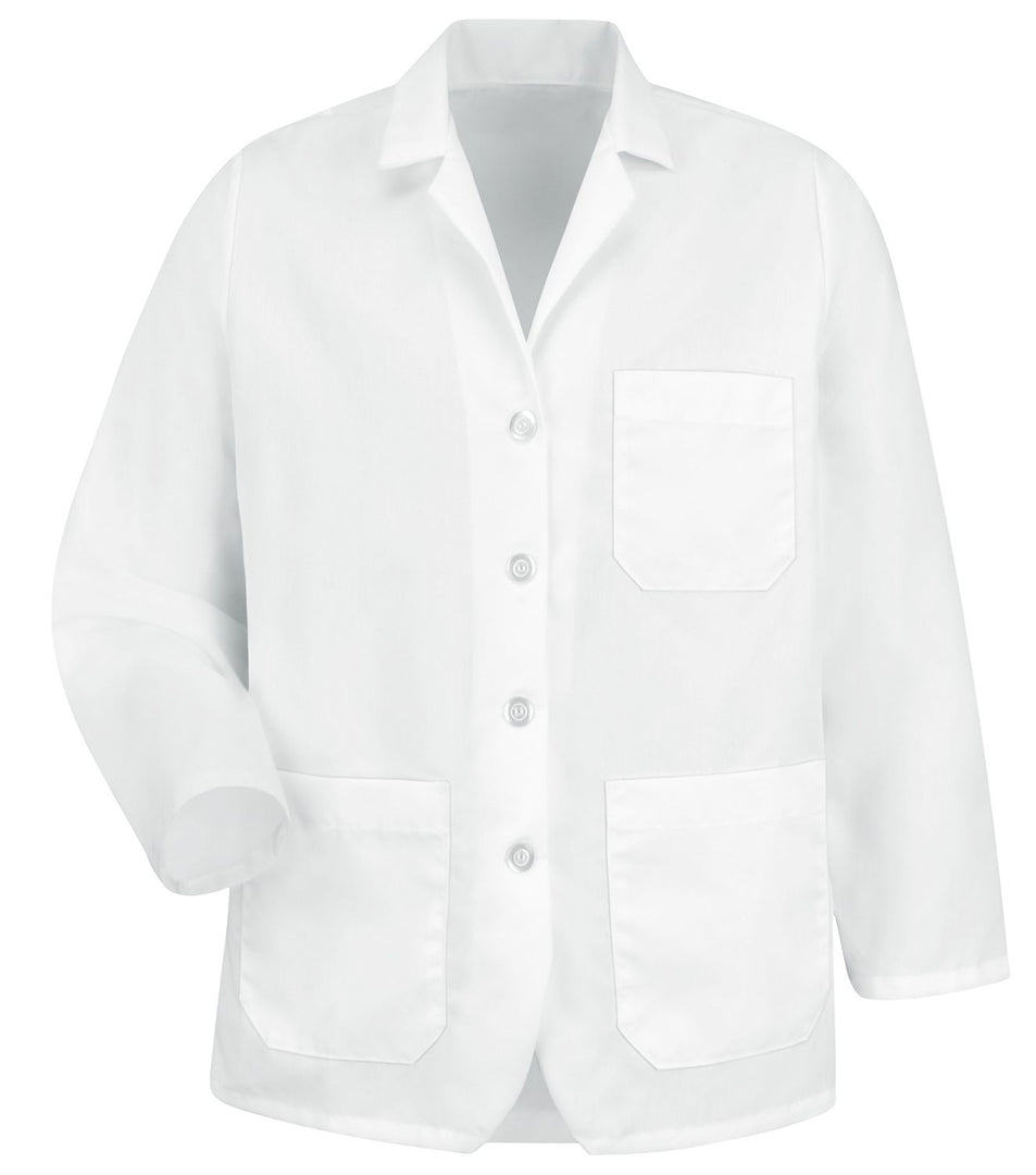 Women's White Lapel Counter Coat