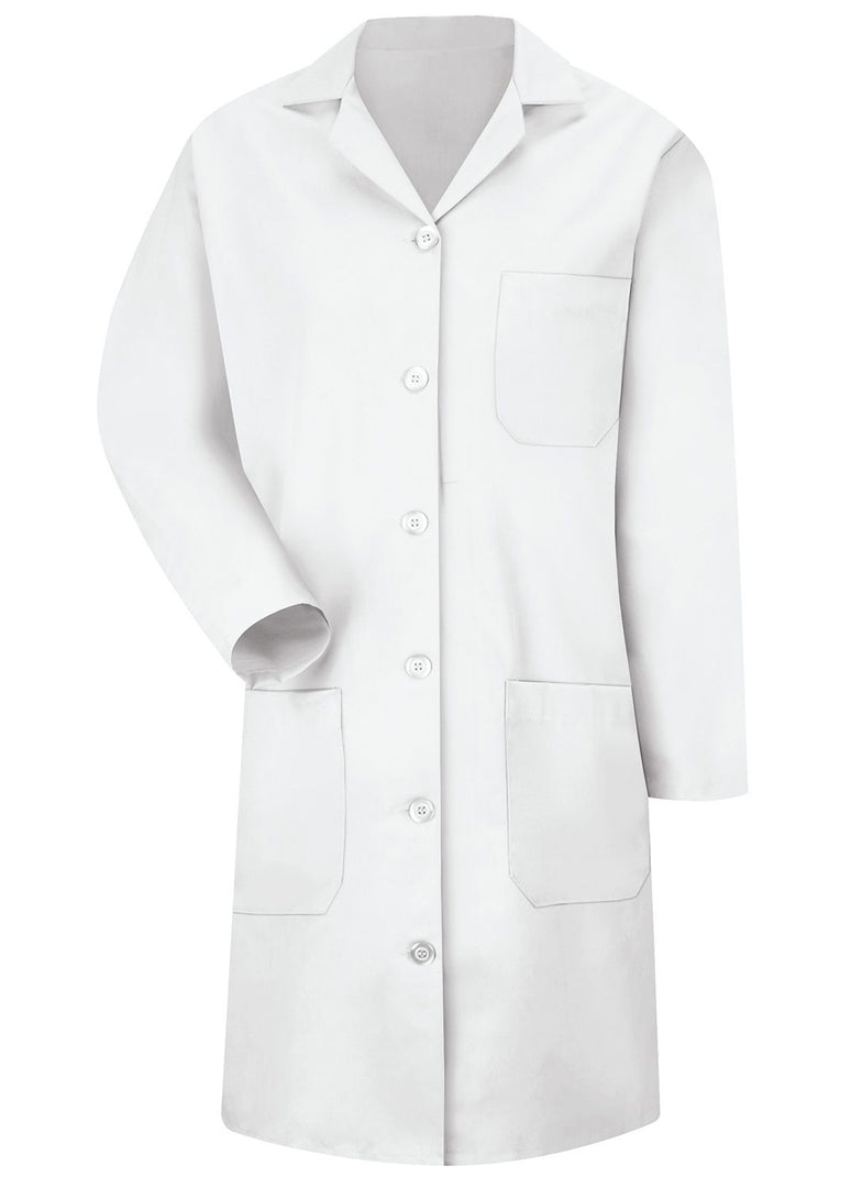 Women's White 6-Button Front Lab Coat