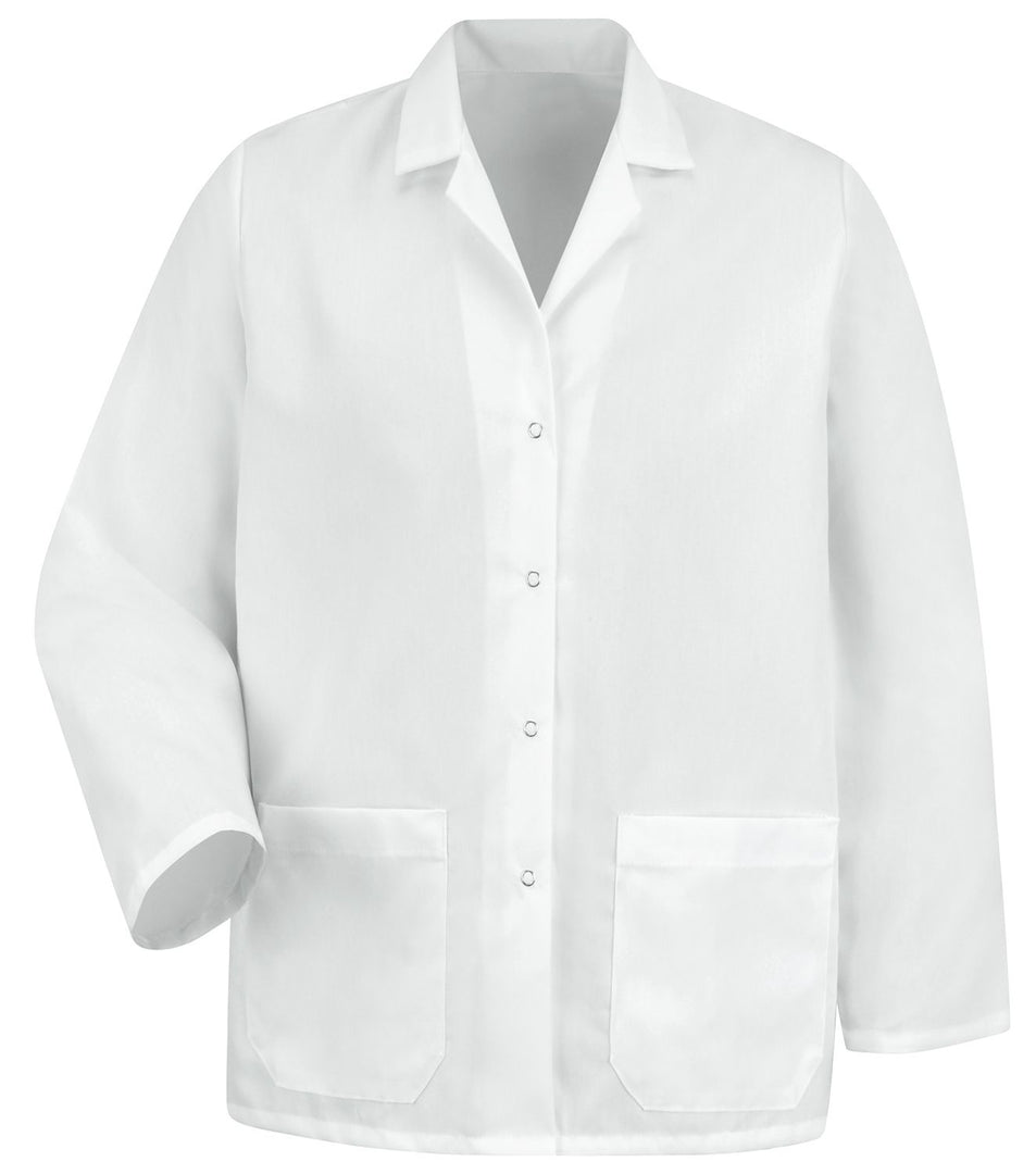 Women's White Specialized Lapel Counter Coat