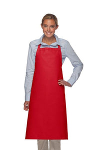 Red No Pocket Adjustable XL Butcher Apron