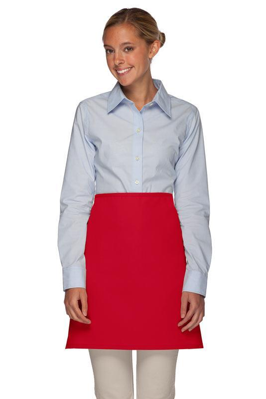 Red No Pocket Half Bistro Apron