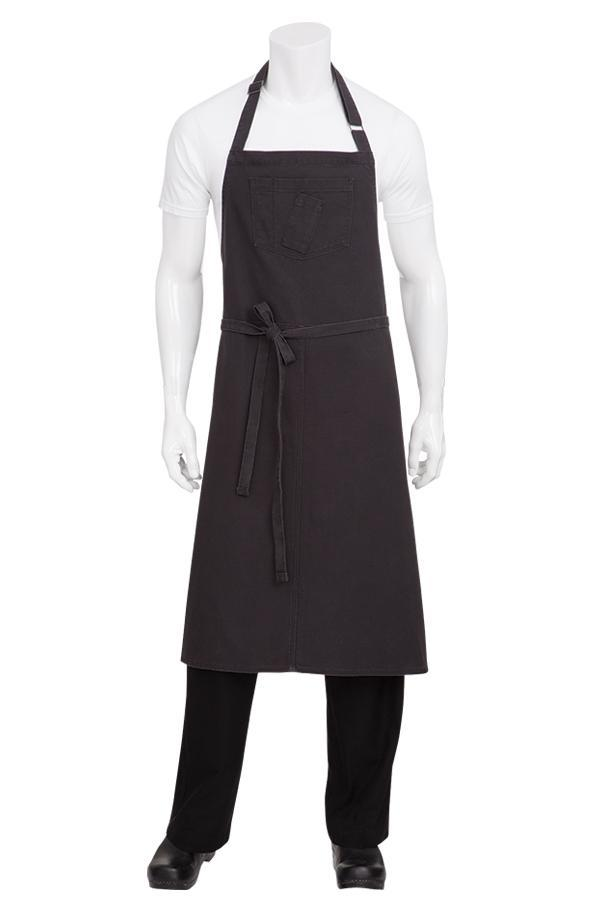 Steel Grey Rockford Chefs Bib Apron