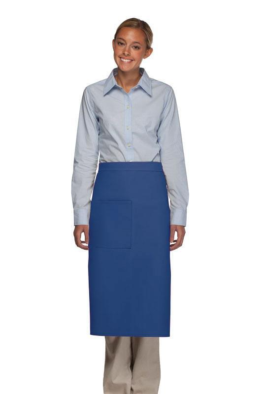 Royal Blue 1 Pocket Full Bistro Apron