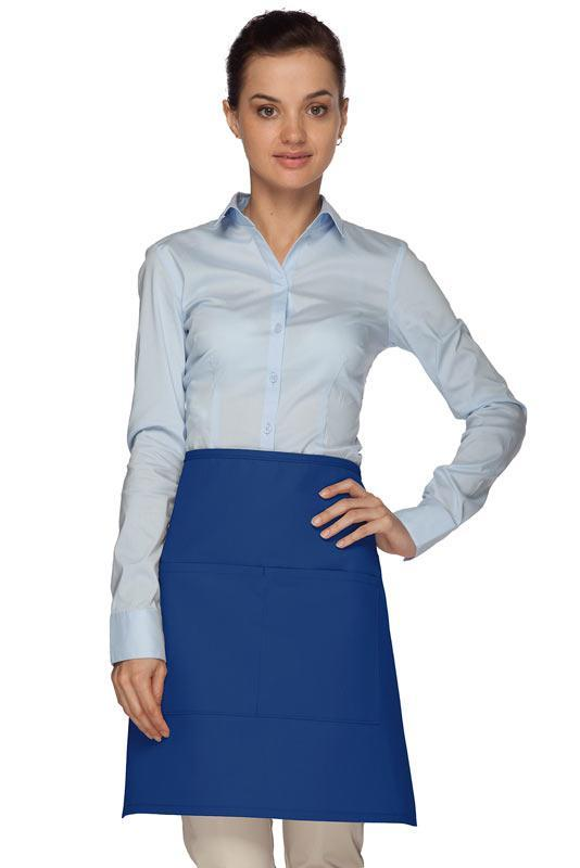 Royal Blue Half Bistro Apron (2 Pockets)