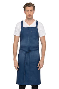Galveston Chef's Cross-back Royal Blue Bib Apron