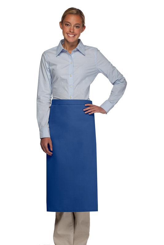 Royal Blue No Pocket Full Bistro Apron