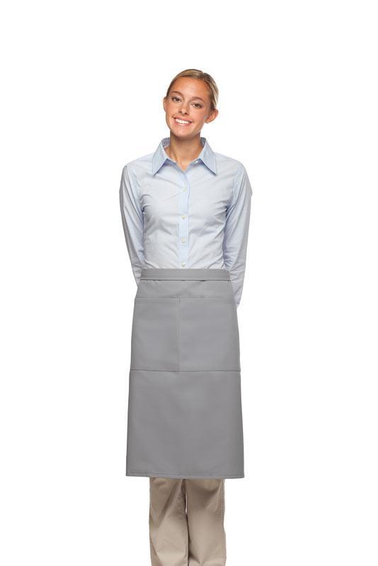 Silver 2 Pocket Three Quarter Bistro Apron