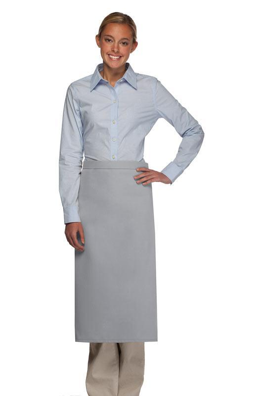 Silver No Pocket Full Bistro Apron