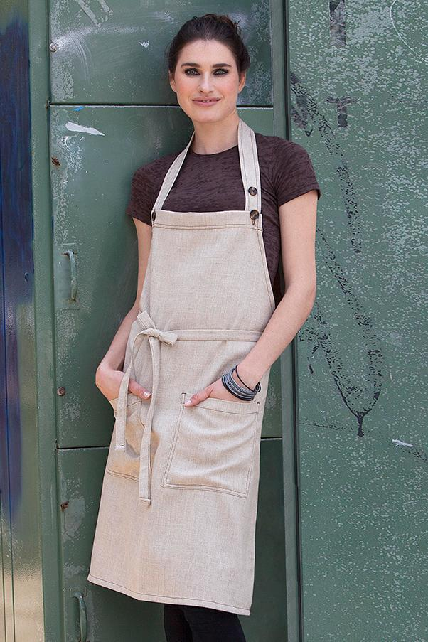 Soho Natural Bib Apron