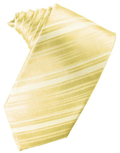 Banana Striped Silk Necktie