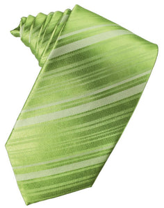 Clover Striped Silk Necktie