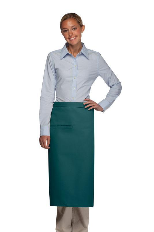Teal Full Bistro Apron (1 Inset Pocket)