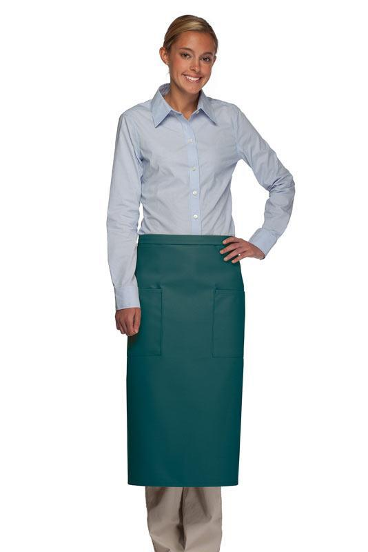 Teal Full Bistro Apron (2 Pockets)