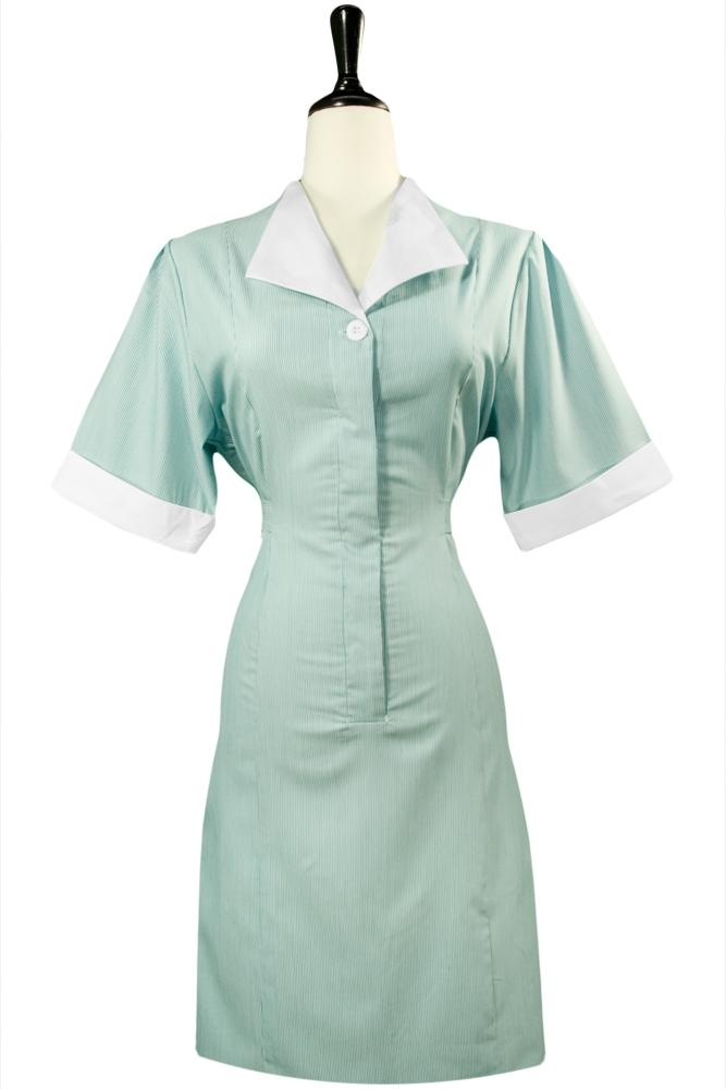 Teal Junior Cord Housekeeping Dress