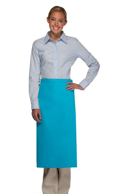 Turquoise Full Bistro Apron (No Pockets)