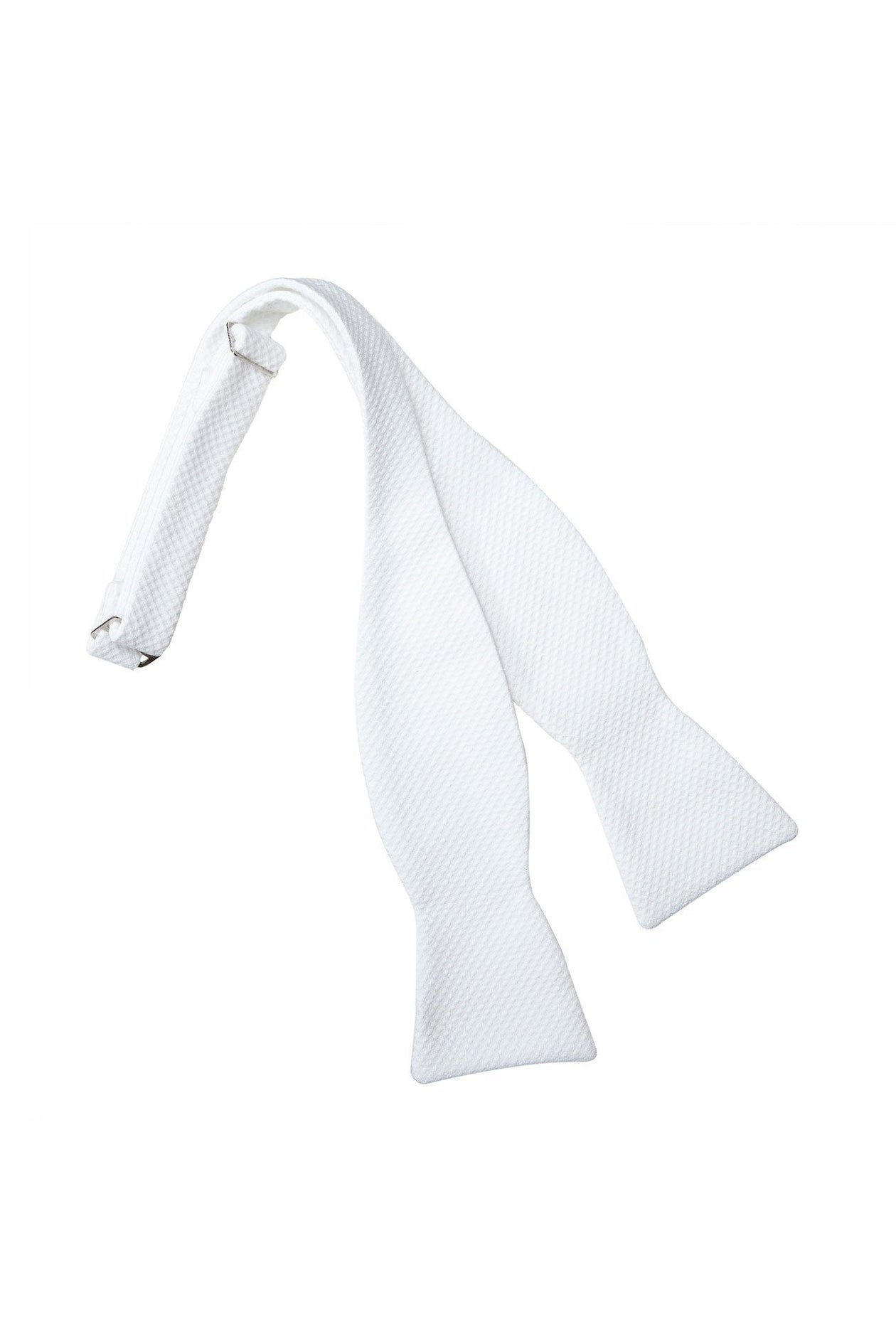 White Pique Self Tie Bow Tie