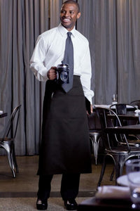 Black Full Bistro Apron (2 Pockets)