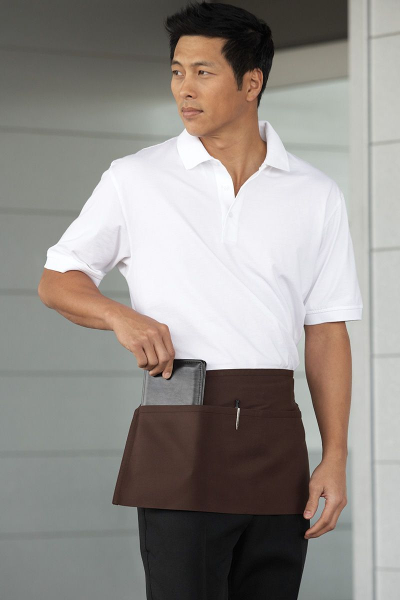 Brown Waist Apron (2 Pockets)