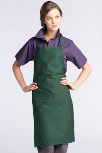 Hunter Green Butcher Adjustable Apron (2 Pockets)