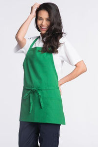Kelly Green Bib Adjustable Apron (3 Pockets)