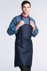 Navy Bib Apron (3 Patch Pockets)