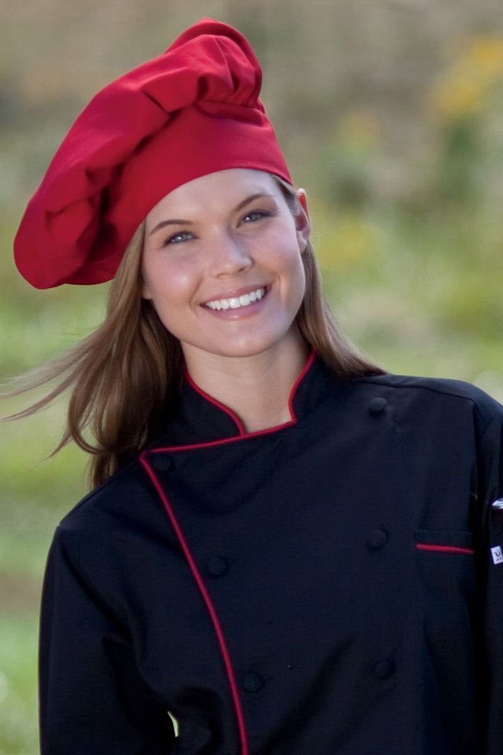Red Poplin Chef Hat
