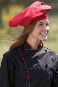 Red Twill Chef Hat