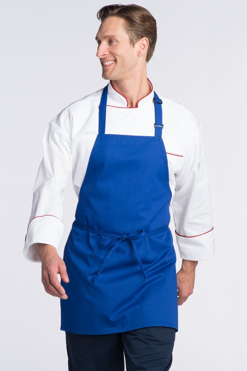 Royal Blue Bib Adjustable Apron (No Pockets)