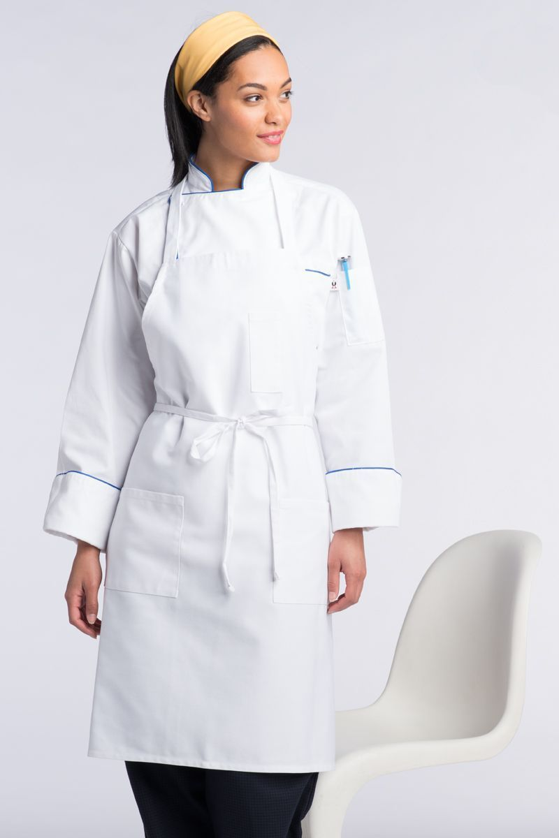 White Bib Apron (3 Patch Pockets)