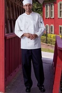 "Black Classic Cotton Chef Pant (2"")"