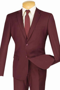 """Lorenzo"" Burgundy Suit"