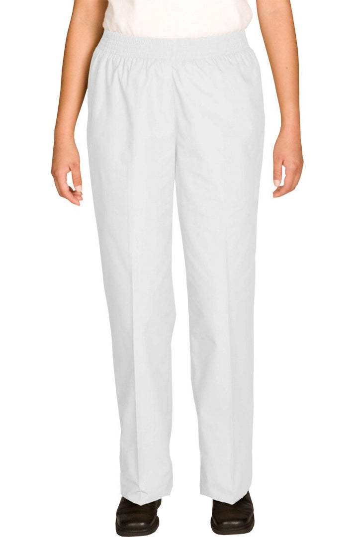 White Cotton Blend Women's Housekeeping Pant